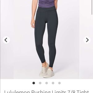 Lululemon pushing limits 7/8 tight